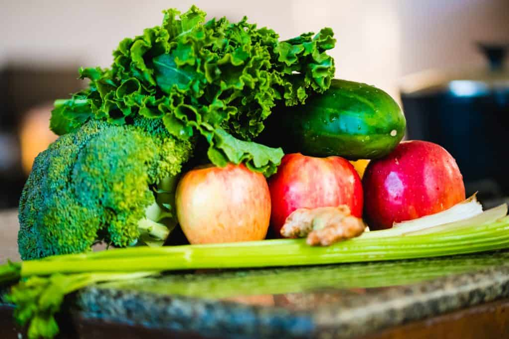 vegetables on the countertop